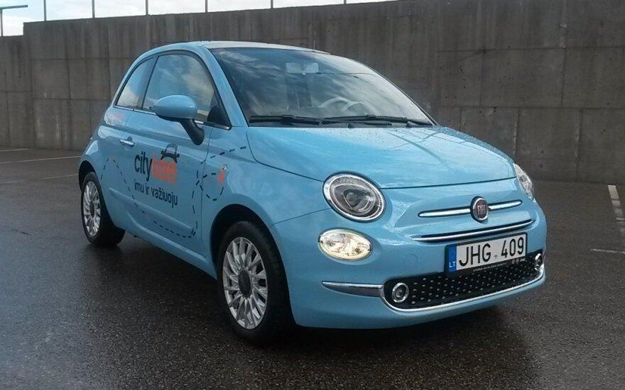 """""""CityBee"""" parką papildė naujais """"Fiat"""""""