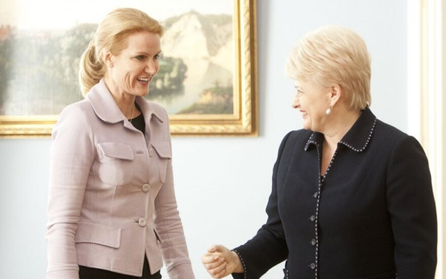 Danish PM Helle Thorning-Schmidt, Lithuanian President Dalia Grybauskaitė