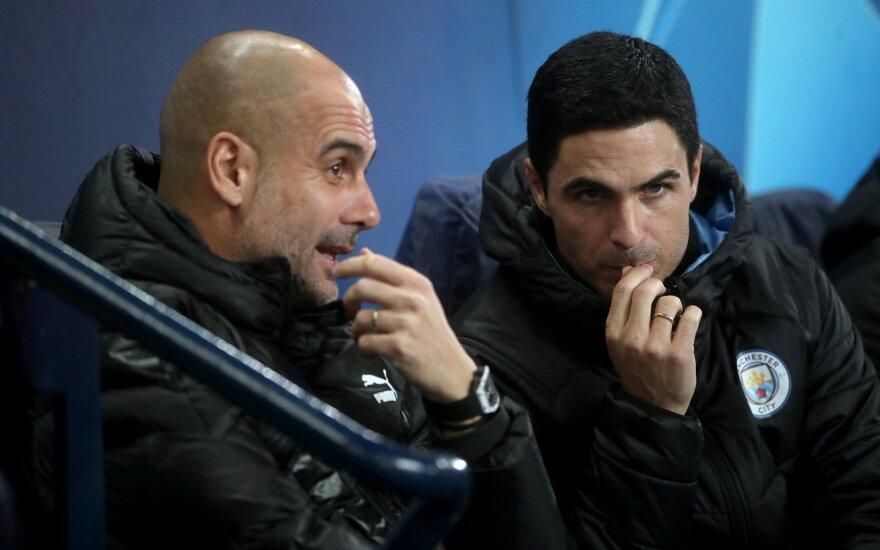 Pepas Guardiola, Mikel Arteta (dešinėje)