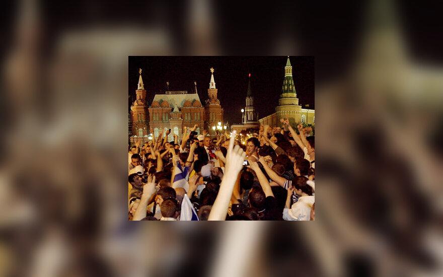 Rusijos futbolo aistruoliai Maskvoje