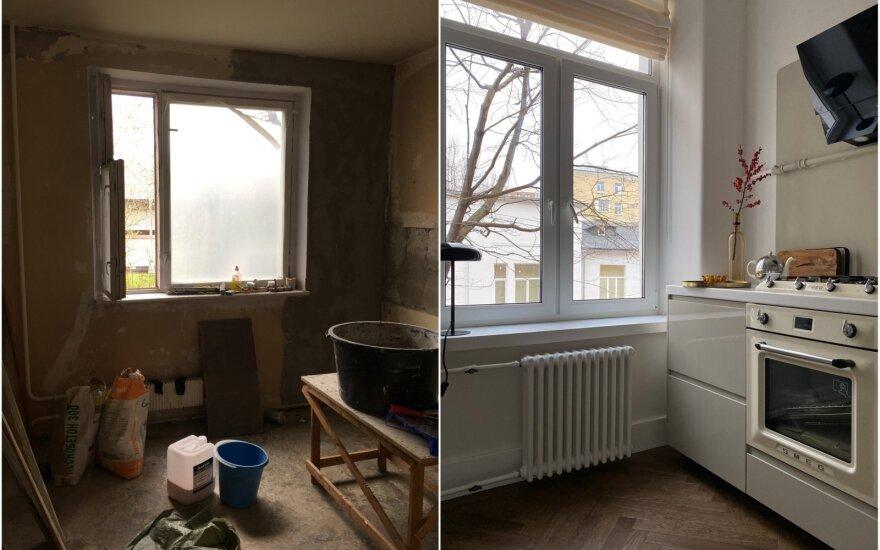 Būsto pokyčiai: prieš ir po dizainerio darbo