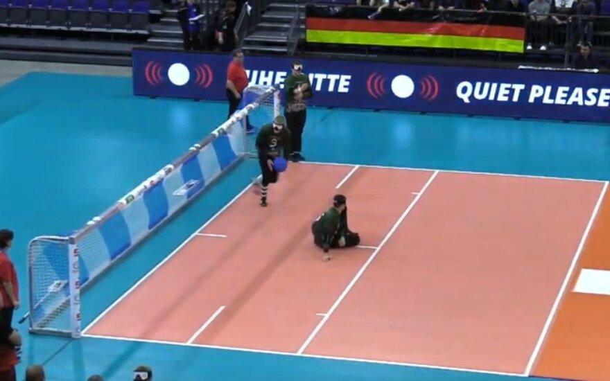 Lietuviai po dramatiško trilerio nepateko į Europos golbolo čempionato finalą