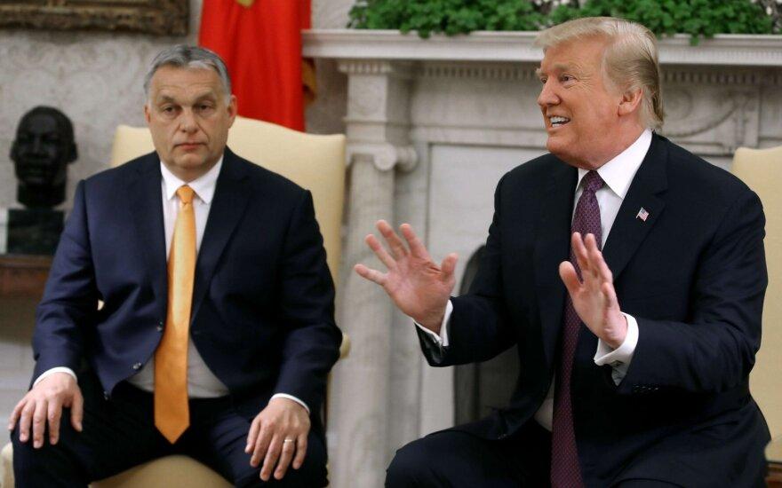 D. Trumpas giria V. Orbaną už savo šalies saugumo palaikymą