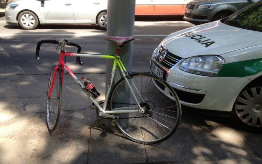 Kaune sučiuptas dviratininkas, kuriam nustatytas 5,5 prom. girtumas
