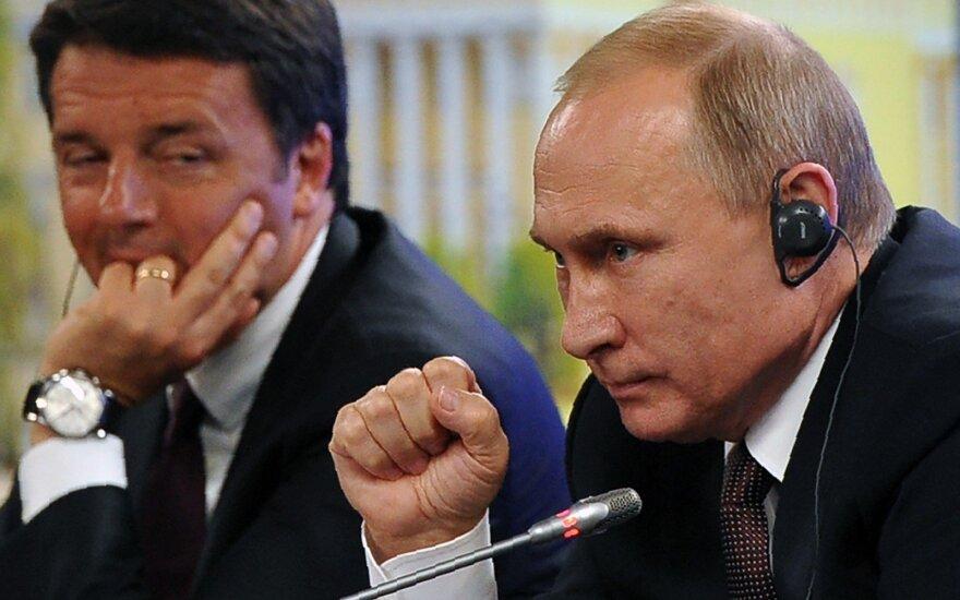 Matteo Renzi, Vladimiras Putinas