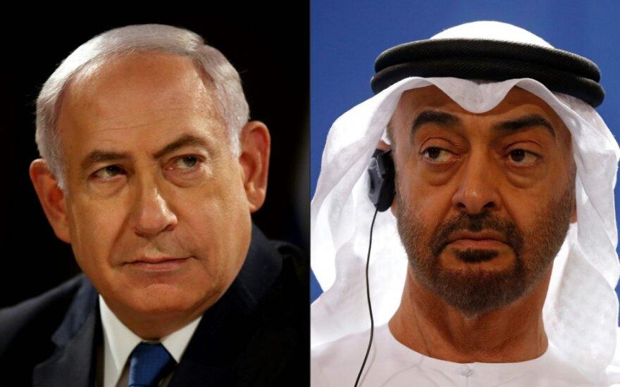 Benjaminas Netanyahu, Mohammedas bin Zayedas