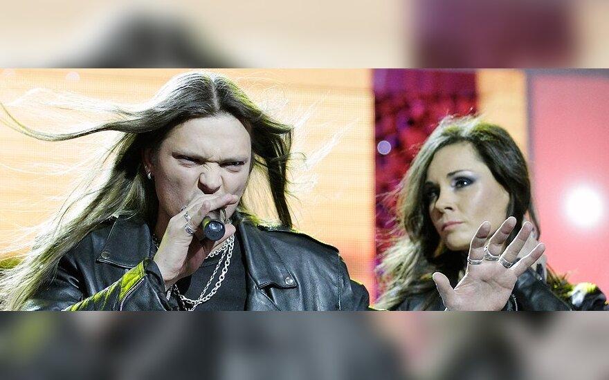 Laurynas Baškys ir Kristina Navickaitė-Tina (dešinėje)