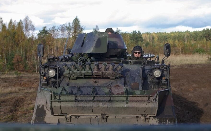 Over 100 Lithuanian reserve troops starting drills in Alytus