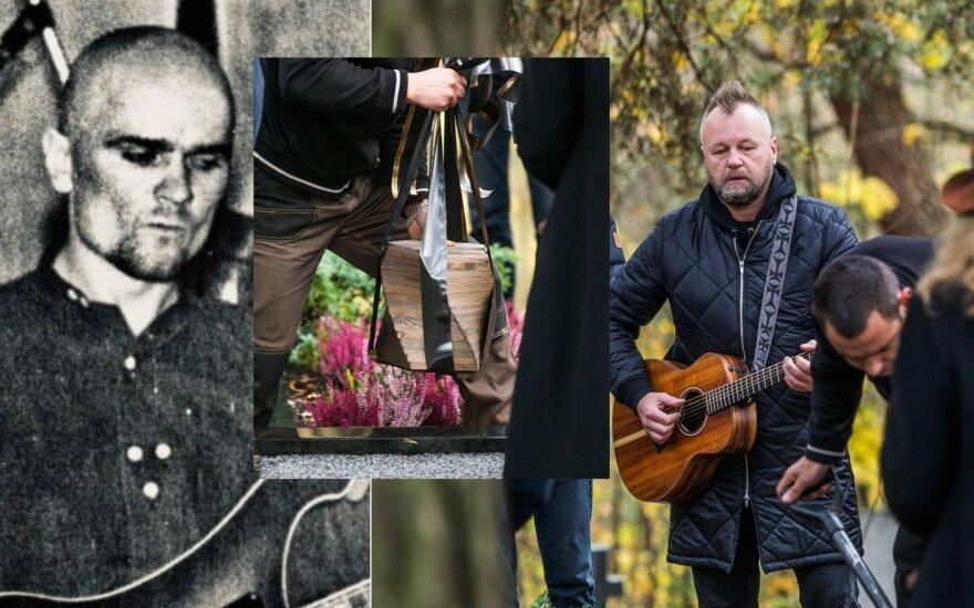 """Grupės """"Bix"""" nario Skirmanto Gibavičiaus laidotuvės /Foto: grupės archyvas, Delfi"""