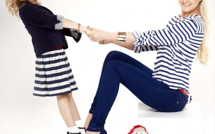 Diana Dargienė su dukryte Une