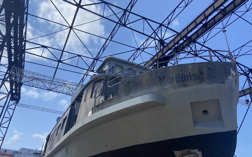 """Laivas """"Nordwind"""" ruošiasi antram pasirodymui operos scenoje (KVMT nuotr.)"""