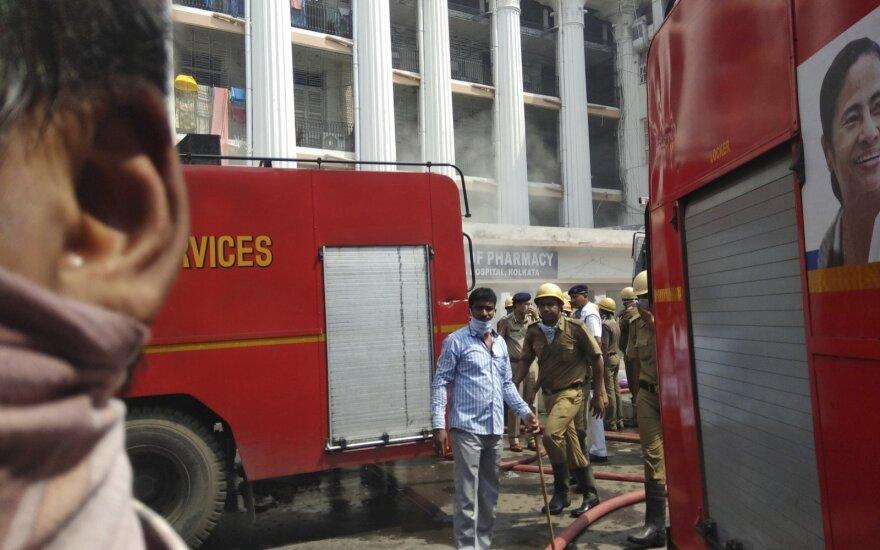 Indijos ligoninė kilus gaisrui evakuoti 250 žmonių