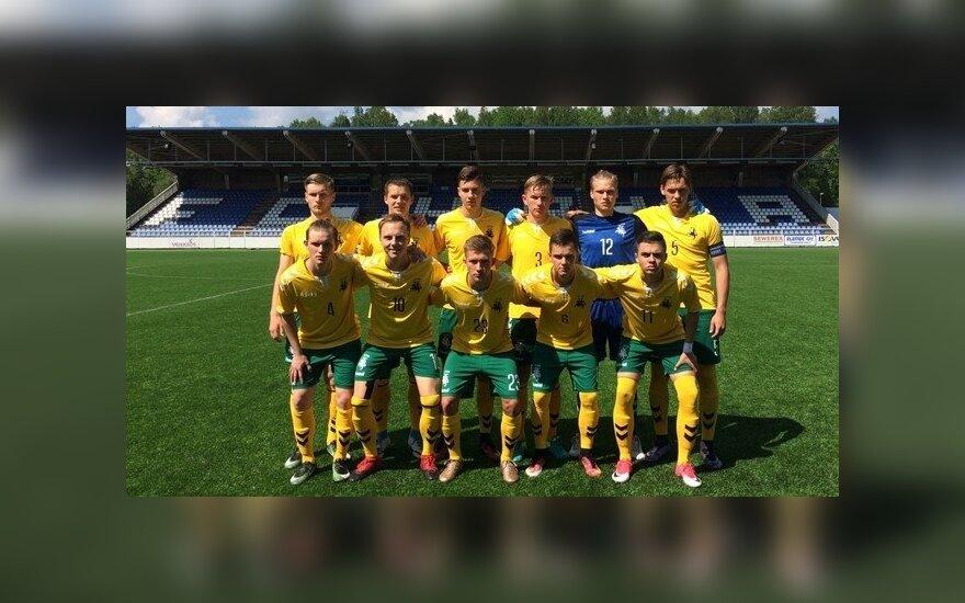 Lietuvos futbolo devyniolikmečių U-19 rinktinė (LFF nuotr.)