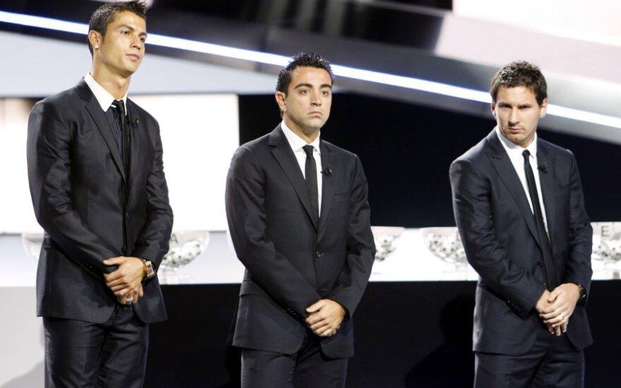 Cristiano Ronaldo, Xavi, Lionelis Messi
