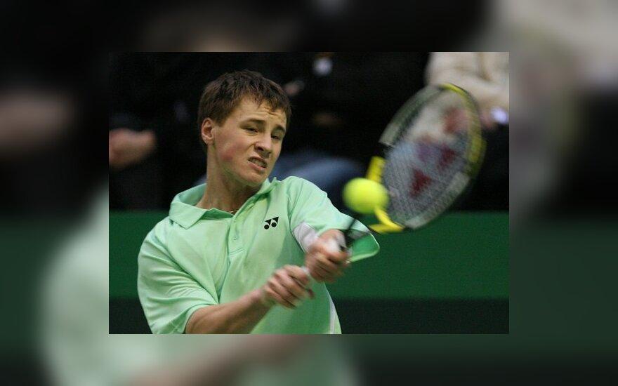 R.Berankis pateko į teniso turnyro JAV aštuntfinalį
