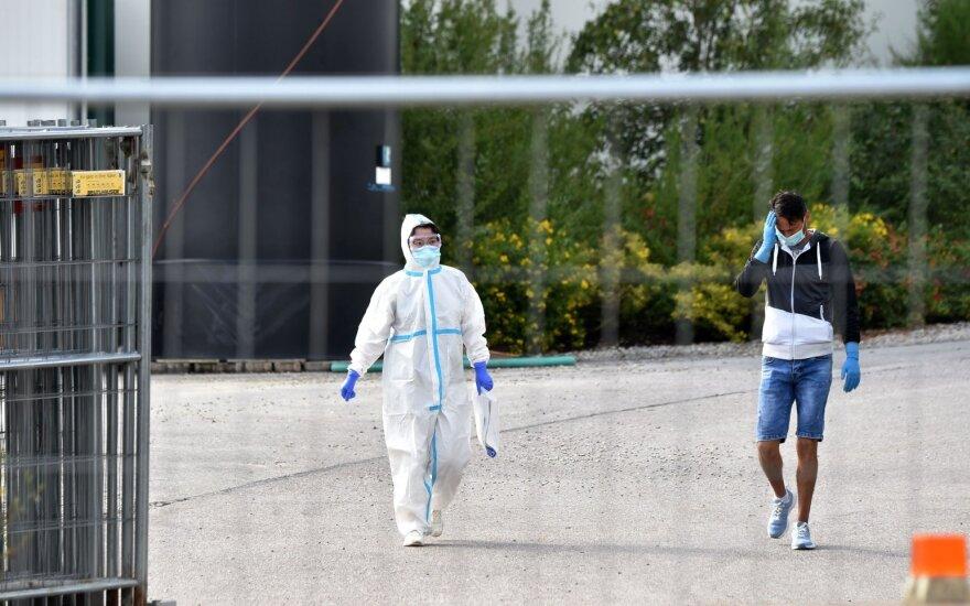 Vokietijoje patvirtinta daugiausiai naujų koronaviruso infekcijos atvejų nuo gegužės