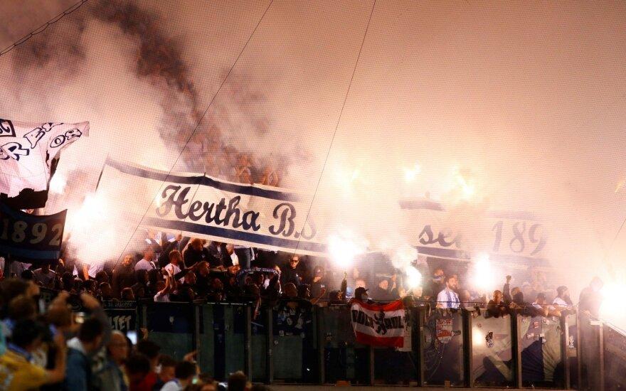 """Hansa Rostock"" - Berlyno ""Hertha"" mačo akimirka"