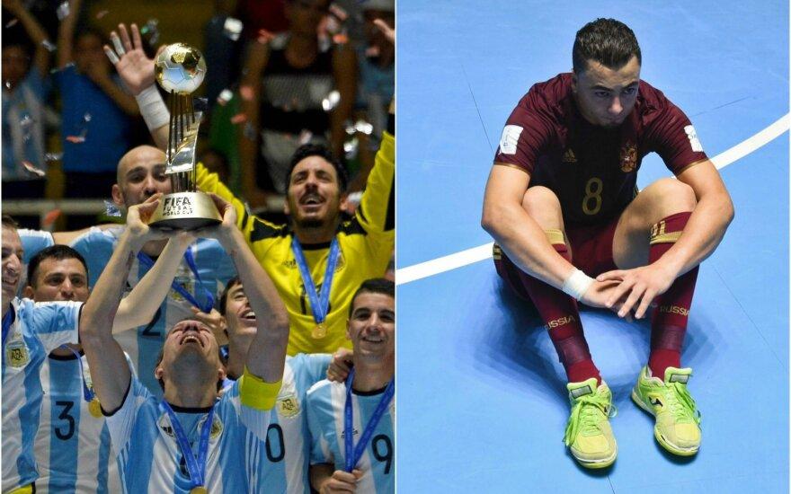 Argentinos futbolininkai ir Ederis Lima (dešinėje)