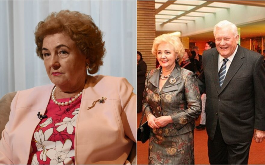 Kristina Brazauskienė ir Algirdas Brazauskas / Foto: LNK, DELFI