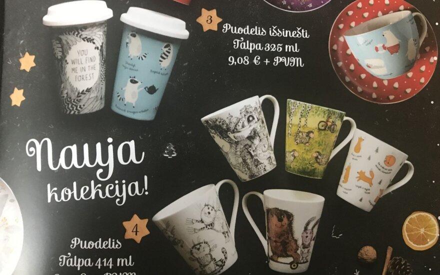 Nustebino kalėdinių prekių kataloge nurodytos kainos