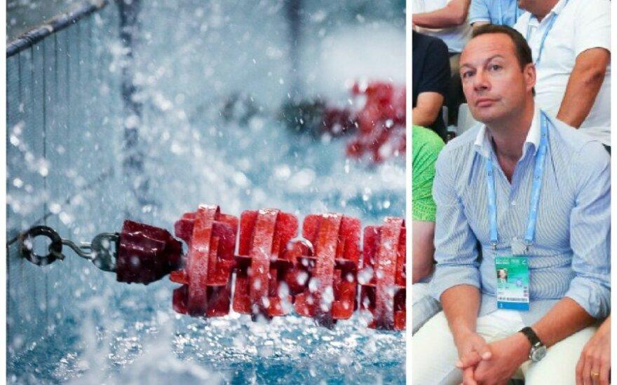 Vegetuojantiems baseinams trenerių ėmėsi ieškoti Lietuvos plaukimo federacijos prezidentas Tomas Kučinskas