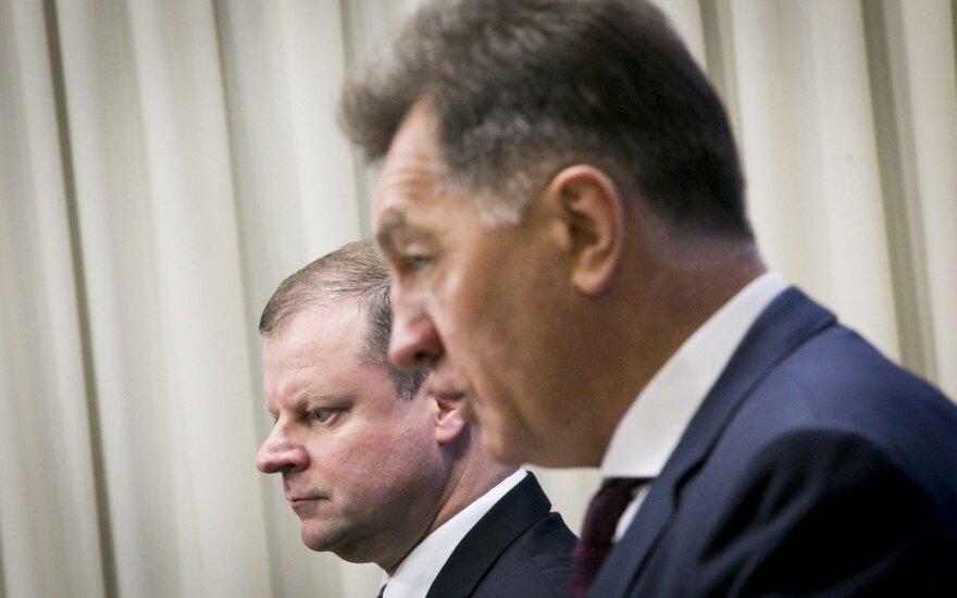 Saulius Skvernelis and PM Algirdas Butkevičius