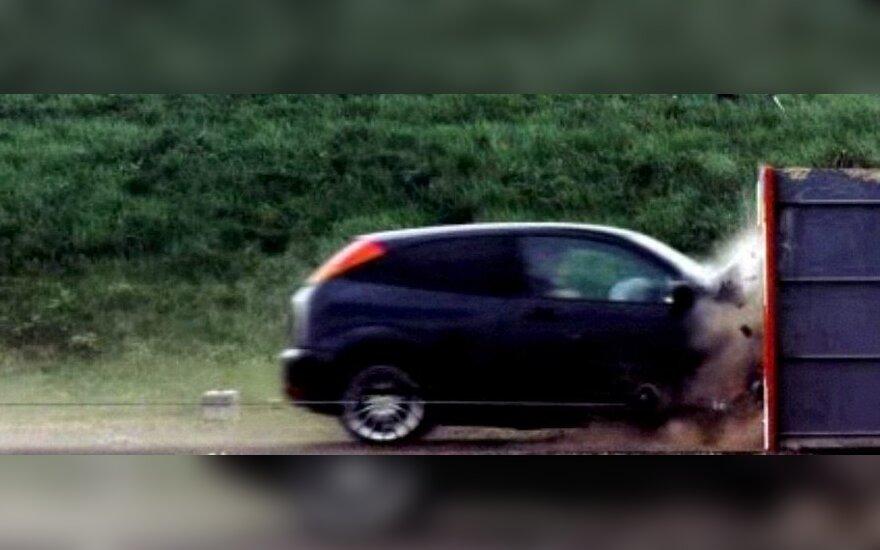 Automobilio avarijos testas