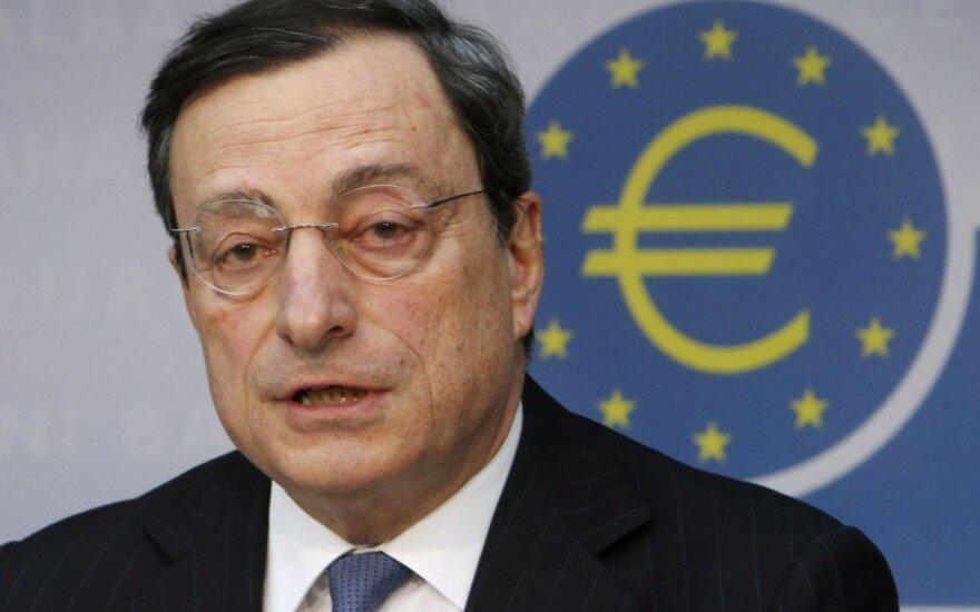 ECB sumažino ekonomikos augimo prognozes