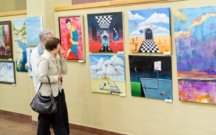 Žurnalistų tapybos paroda Seime