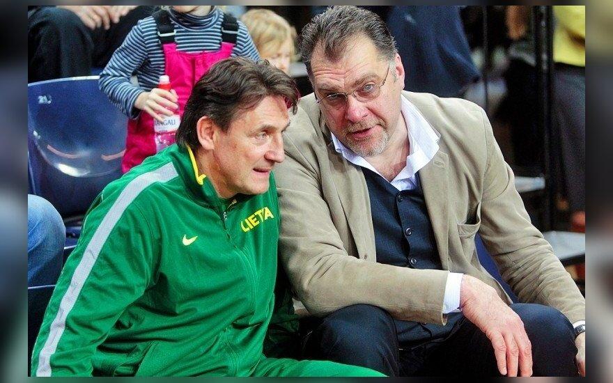Arvydas Sabonis ir Valdemaras Chomičius