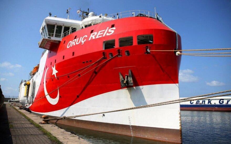 """Turkijos išteklių paieškos laivas """"Oruc Reis"""""""