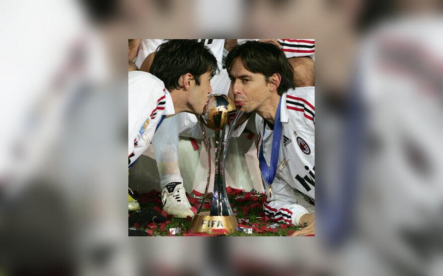 """Kaka ir Filippo Inzaghi (""""AC Milan"""")"""