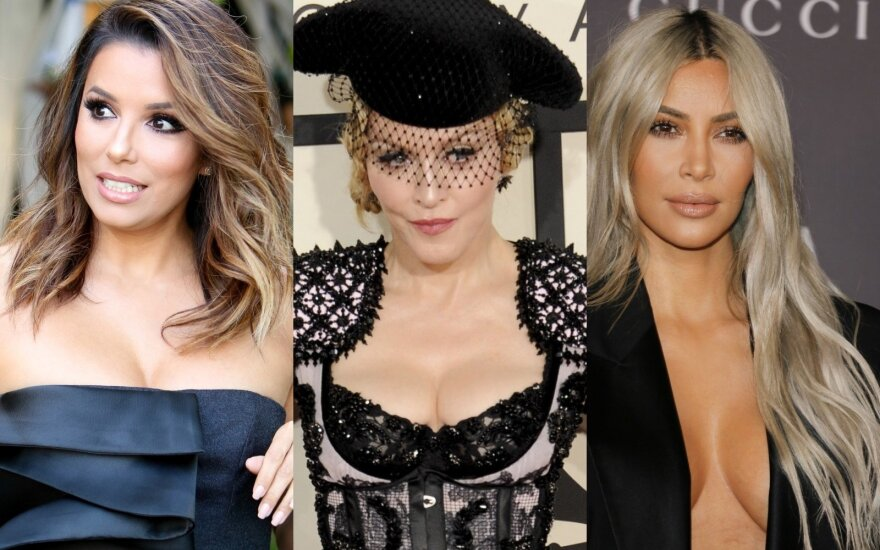 Eva Longoria, Madonna, Kim Kardashian