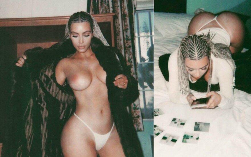 Kim Kardashian paaiškino, kodėl negali nustoti pozuoti nuoga