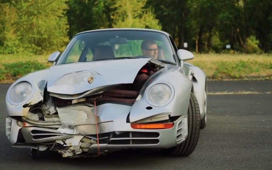 Porsche 959. Youtube.com STOP kadras