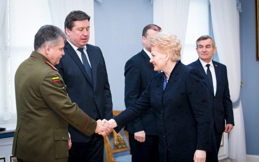 Gen. Žukas, Minister Karoblis and Grybauskaitė