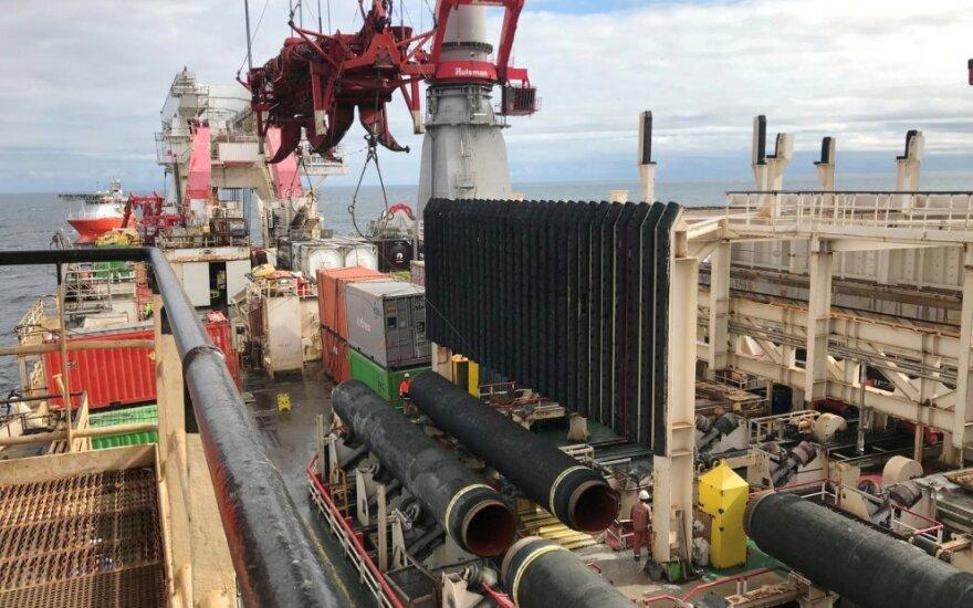 """""""Nord Stream 2""""  klojimo darbai"""