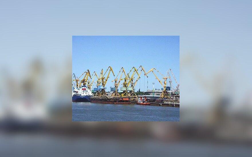 Klaipėda, uostas, kranas