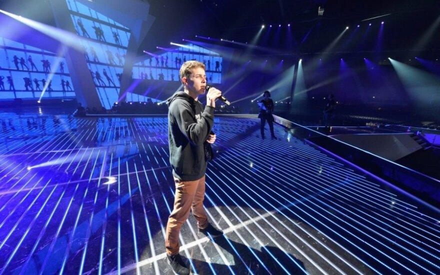 Pirmoji Donato Montvydo repeticija Baku (EBU nuotr.)