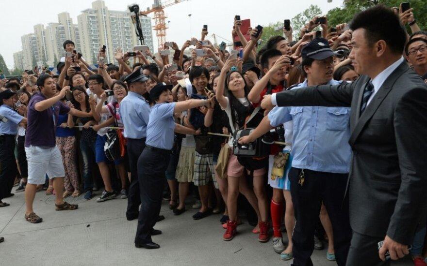Šanchajuje per Davido Beckhamo gerbėjų spūstį sužeisti žmonės