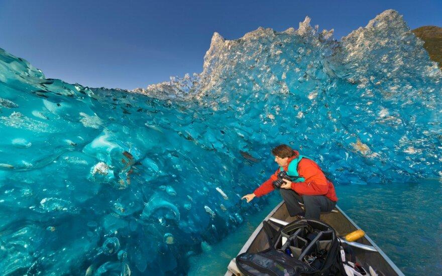 Vienas įspūdingiausių ledynų, kuriame turistai pramogauja ir vasarą, ir žiemą