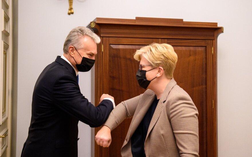 Nausėda paskyrė Šimonytę Lietuvos ministre pirmininke