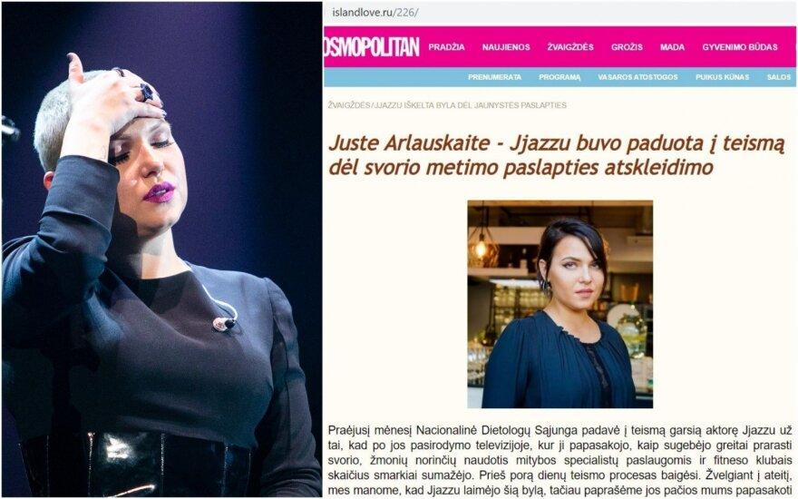 """""""Cosmopolitan"""" mėgdžiojančiame rusiškame portale apžmeižta dainininkė """"Jazzu"""""""