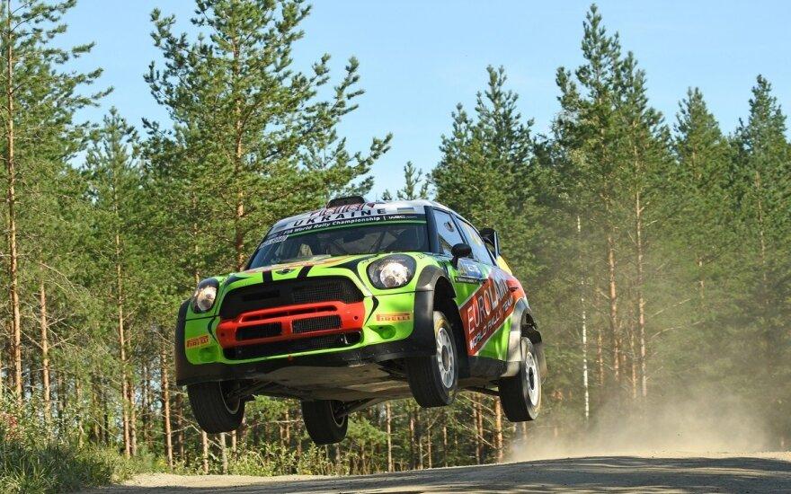 """""""Samsonas Rally Rokiškis"""" dalyvauti panoro ukrainiečių ekipažas su WRC kalibro """"Mini"""""""