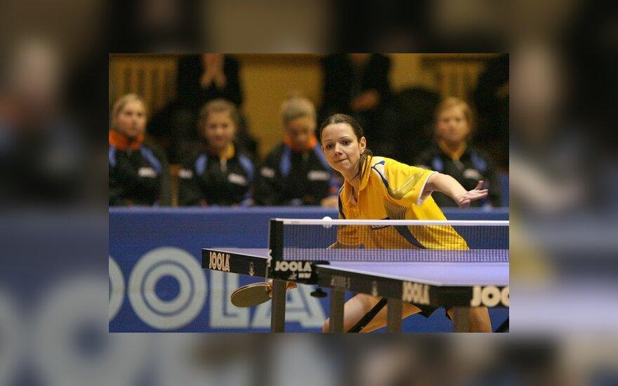 R.Paškauskienė nepateko į Vokietijos stalo teniso čempionato ketvirtfinalį