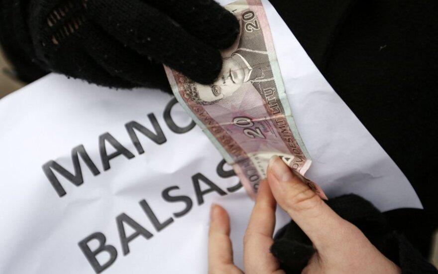 Protesto akcija prieš balsų pirkimą