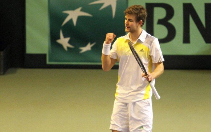 L. Grigelis nepateko į teniso turnyro Italijoje vienetų pusfinalį