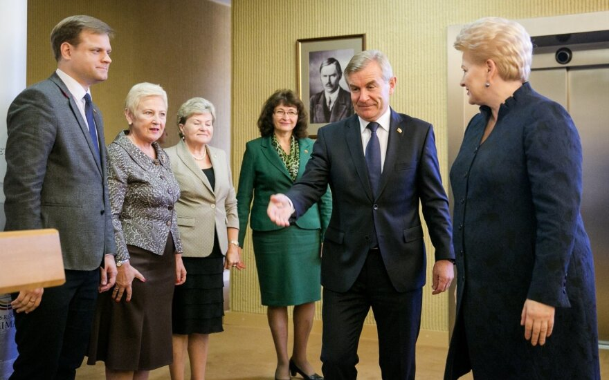 President Dalia Grybauskaitė meets Seimas board