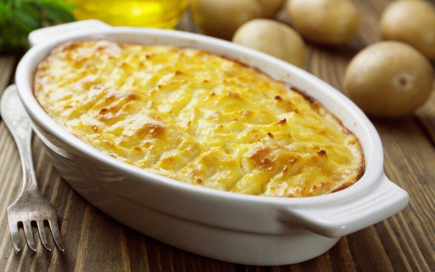 Bulvių plokštainis su varške