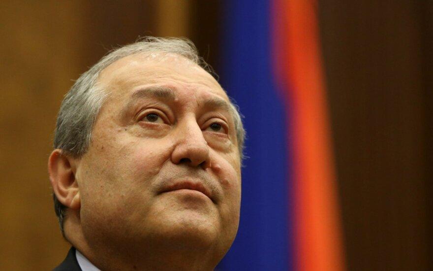 Armėnijos prezidentas Armenas Sarkissianas
